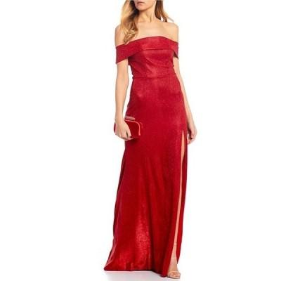 ビーダーリン レディース ワンピース トップス Off-The-Shoulder Cuff Shimmer Shine Long Dress
