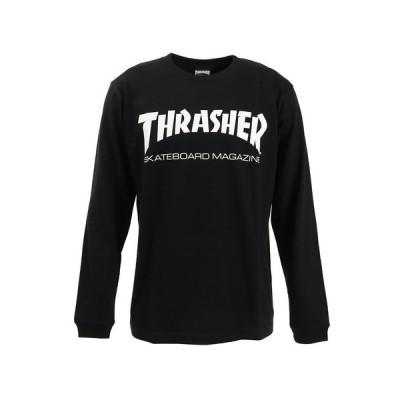スラッシャー(THRASHER) MAG LOGO 長袖シャツ TH8301BLACK (メンズ)