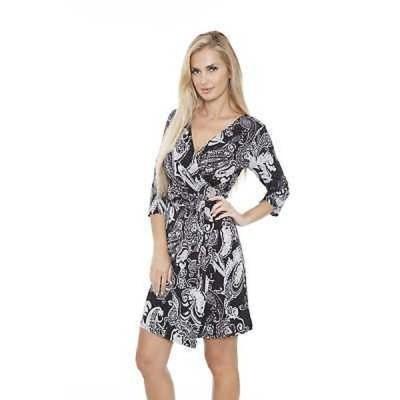ドレス ホワイトマーク White Mark Women's 'Mariah' Paisley Print Wrap Dress