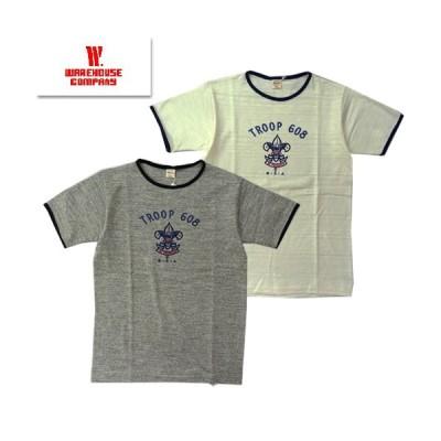 ウエアハウス WAREHOUSE リンガーTシャツ Lot4059 TROOP 608 半袖 アメカジ プリント TEE 2020年春夏新作 レターパック1枚まで対応