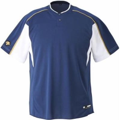 DESCENTE 野球 ソフトボール ジュニア 野球 2ボタンベースボールシャツ 19FW NVSW Tシャツ(jdb104b-nvsw)