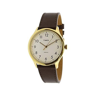 Timex Men's Easy Reader TW2T71600 Gold Leather Analog Quartz Fashion Watch