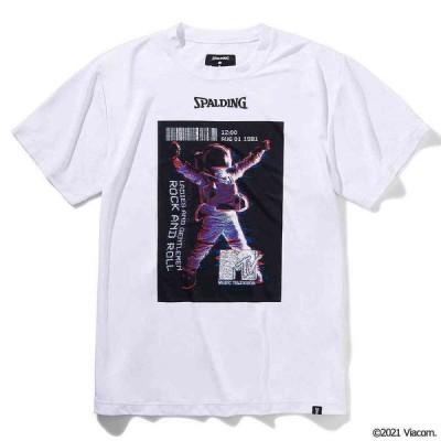 スポルディング SMT210380 Tシャツ(MTVスペースマン) ホワイト(WH)