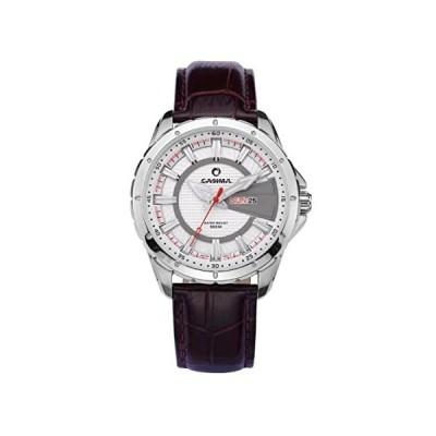 CASIMAブランドスポーツメンズクォーツ腕時計ステンレススチールレザーバンド防水100M st-8102-sl8