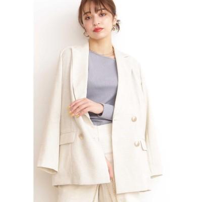 【エヌナチュラルビューティベーシック】 リスタビュールダブルジャケット レディース エクリュ M N.Natural Beauty Basic