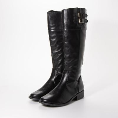 デメテル DEMETER ダブルベルトデザインのジョッキーブーツ (ブラック)