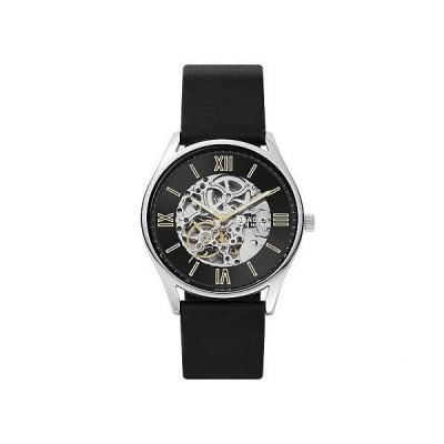 Skagen スカーゲン メンズ 男性用 腕時計 ウォッチ ファッション時計 22 mm Automatic Leather Watch - Black