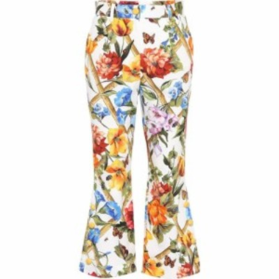 ドルチェandガッバーナ Dolce and Gabbana レディース ボトムス・パンツ Floral-prined stretch-cotton trousers Fiori Rampicanti