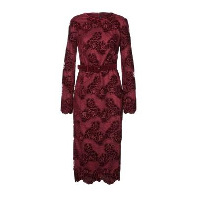 ISABEL GARCIA 7分丈ワンピース・ドレス ボルドー S ポリエステル 100% 7分丈ワンピース・ドレス