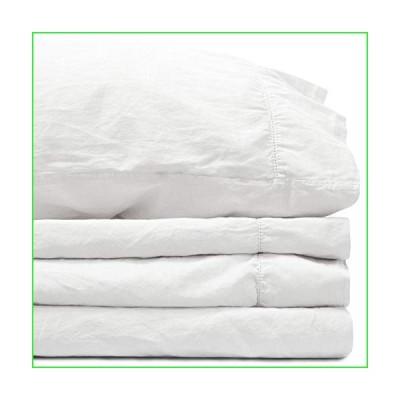 Jennifer Adams Sateen Sheet Set (White, Queen )