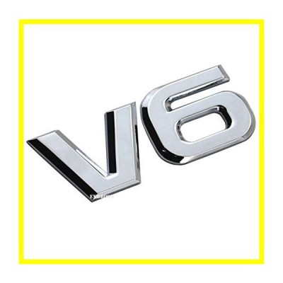 送料無料 EmbRoom V6 エンブレム, 3D Metal Truck Car Badge Decal ステッカー Replacement for Universal Cars Moto バイク Car Styling Deco