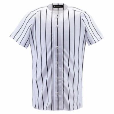 ユニフォームシャツ フルオープンシャツ(ワイドストライプ)【DESCENTE】デサントヤキュウソフトユニフォーム シャツ・M(DB6000-SWBK)