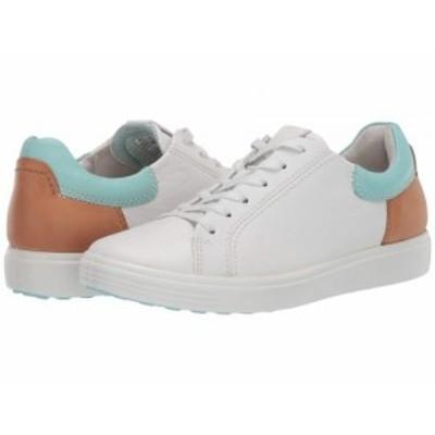 ECCO エコー レディース 女性用 シューズ 靴 スニーカー 運動靴 Soft 7 Street Sneaker White/Eggshell Blue/Lion Cow【送料無料】