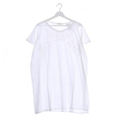 カンカン KANKAN 刺繍カットソーチュニック (ホワイト)
