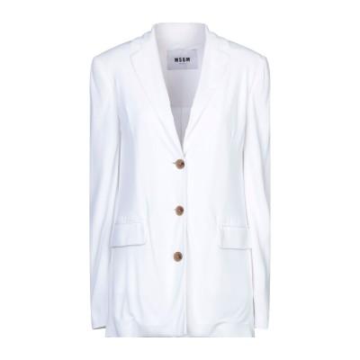 エムエスジーエム MSGM テーラードジャケット ホワイト 44 レーヨン 100% テーラードジャケット