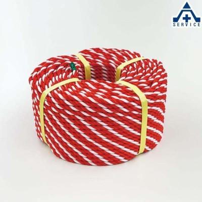 871-641 トラロープ (紅白ロープ)約9φ×100m 材質:ポリエチレン (メーカー直送/代引き決済不可)区画整理 バリケード 標識ロープ