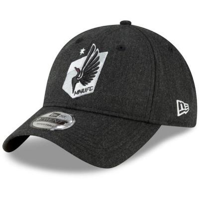 ニューエラ メンズ 帽子 アクセサリー Minnesota United FC New Era Forever United 9TWENTY Adjustable Hat Heathered Black