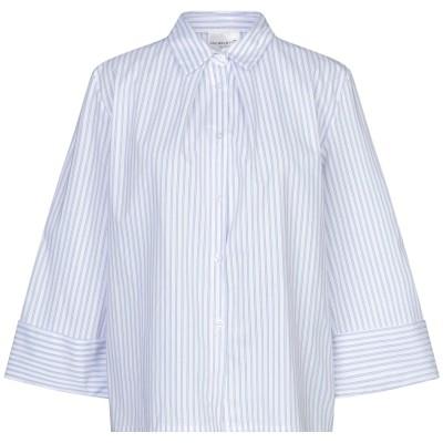 MICHELA MII シャツ ホワイト S/M コットン 62% / ポリエステル 34% / ポリウレタン 4% シャツ