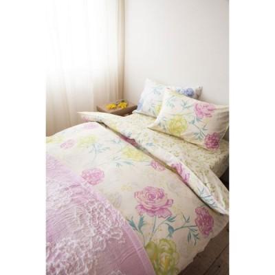 ロマンス小杉 ボックスシーツD ダブル 140x200x30cm Seora(セオラ) 日本製 綿100% 花柄