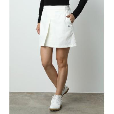 ジュン アンド ロペ/チノクロスボックスプリーツスカート/ホワイト/L