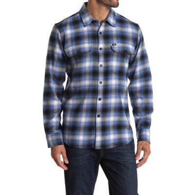 オベイ メンズ シャツ トップス Storm Woven Long Sleeve Regular Fit Shirt BLUE MULTI
