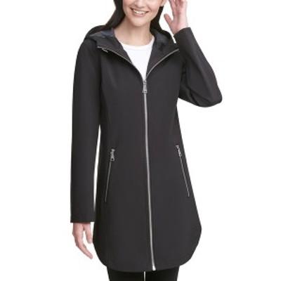 カルバンクライン レディース コート アウター Hooded Raincoat Black/Grey