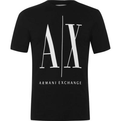 アルマーニ Armani Exchange メンズ Tシャツ トップス Armani Icon T Shirt Black