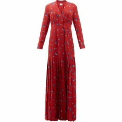 レベッカ デ ラヴェルネル Rebecca de Ravenel レディース ワンピース ワンピース・ドレス Paisley-print silk crepe de Chine maxi dres