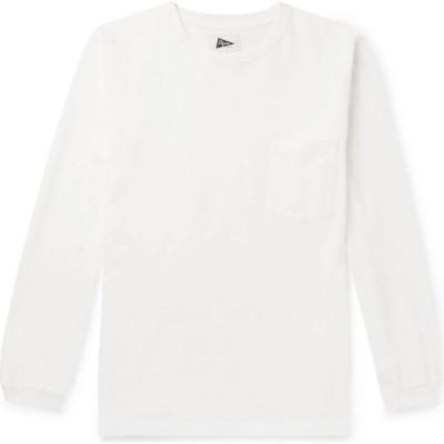 ピルグリム サーフ+サプライ PILGRIM SURF+SUPPLY メンズ Tシャツ トップス T-Shirt White