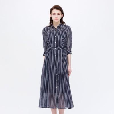 シアーストライプ ドレス
