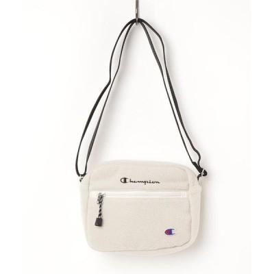 ショルダーバッグ バッグ 【CHAMPION/チャンピオン】フリースミニショルダーバッグ モコモコ ボア ブランドロゴ 刺繍