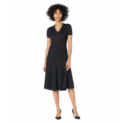 ラルフローレン ワンピース トップス レディース Short Sleeve Ribbed Dress Polo Black