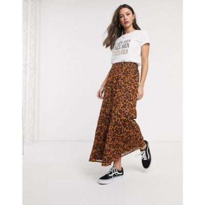 ブレンド シー Blend She レディース ロング・マキシ丈スカート スカート skirt in leopard レオパード
