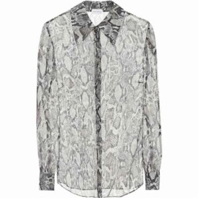 マグダ ブトリム Magda Butrym レディース ブラウス・シャツ トップス snake-print silk shirt Natural