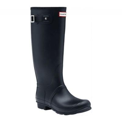 ハンター Hunter レディース レインシューズ・長靴 シューズ・靴 Original Tall Wide Fit Rain Boot Navy