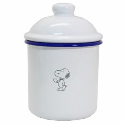 スヌーピー 食品 保存容器 ホーロー製 キャニスター ピーナッツ 新生活準備 雑貨 キャラクター グッズ