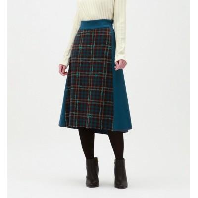 【ラブレス/LOVELESS】 フロントチェック ミモレ スカート