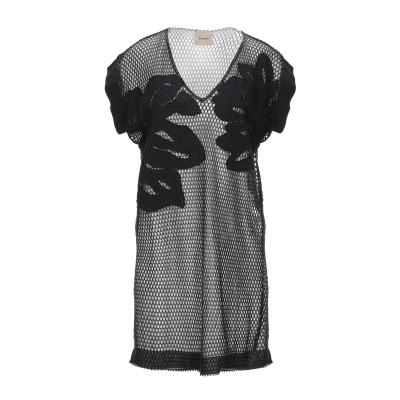 ヌード NUDE ミニワンピース&ドレス ブラック 42 コットン 95% / キュプラ 5% ミニワンピース&ドレス