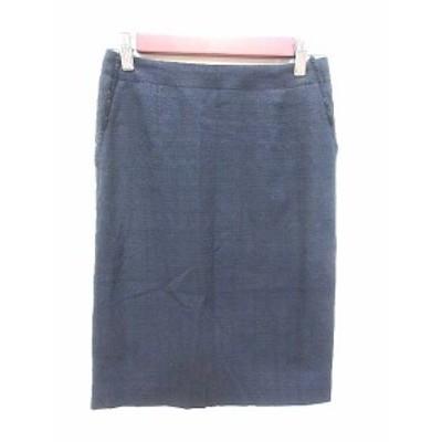 【中古】グリーンレーベルリラクシング ユナイテッドアローズ green label relaxing タイトスカート ひざ丈 36 紺