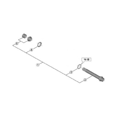 [1]ハブ軸組立品 (玉間142mm)