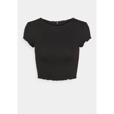 オンリー プティ Tシャツ レディース トップス ONLKITTY SHORT - Basic T-shirt - black