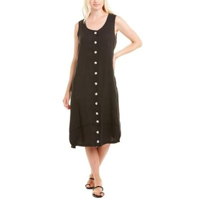 エックスシーブイアイ ワンピース トップス レディース XCVI Linen Midi Dress black