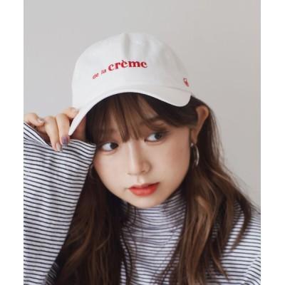RiNc / 【 ammy. / エイミードット 】 刺繍 ロゴ ナチュラル クリーム キャップ WOMEN 帽子 > キャップ