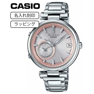 【名入れ刻印】【国内モデル】カシオ CASIO 腕時計 シーン SHEEN スマートフォンリンク SHB-100D-4AJF ピンク レディース