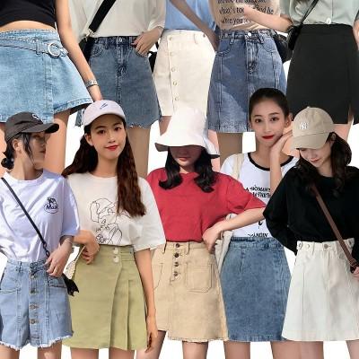 2020春夏新品美脚効果無地Aラインドレープミニスカートで日本 韓国のファッションセクシーなショートスカートのスカートタイトスカート 高腰のスカート カジュアルスカート