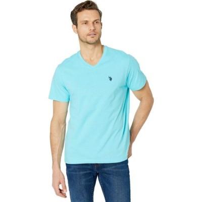 ユーエスポロアッスン U.S. POLO ASSN. メンズ Tシャツ Vネック トップス V-Neck Tee Painters Aqua