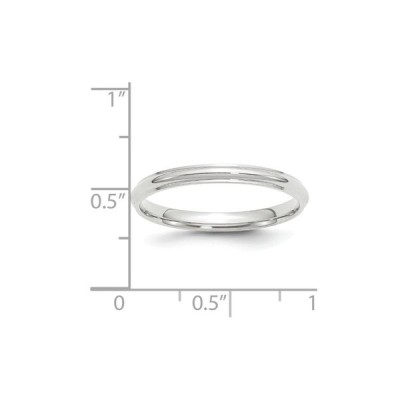 Jewelry Stores Network Solid 10k White Gold 2.5 mm Round Egded Wedding