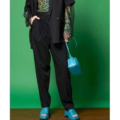 パンツ スラックス ワンタックワイドテーパードパンツ【MAISON SPECIAL/メゾンスペシャル】