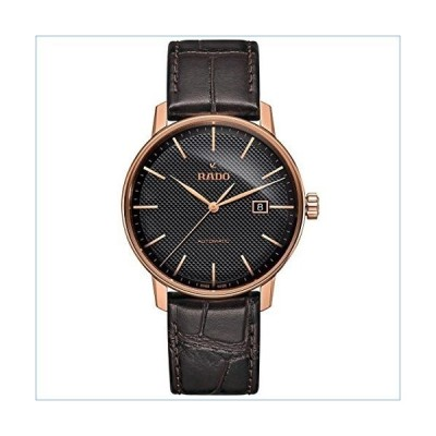 Rado Men's Coupole Classic 41mm Brown Leather Band Rose Gold Plated Case Automatic Analog Watch R22877165並行輸入品
