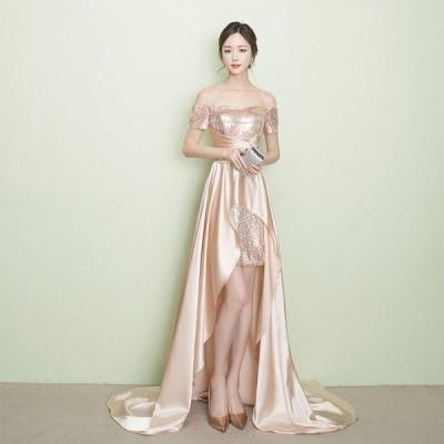 結婚式 二次会 成人式 ウェディングドレス ドレス パーティワンピース ロング お呼ばれ ロングドレス イブニングドレス レディース パーティー 花嫁